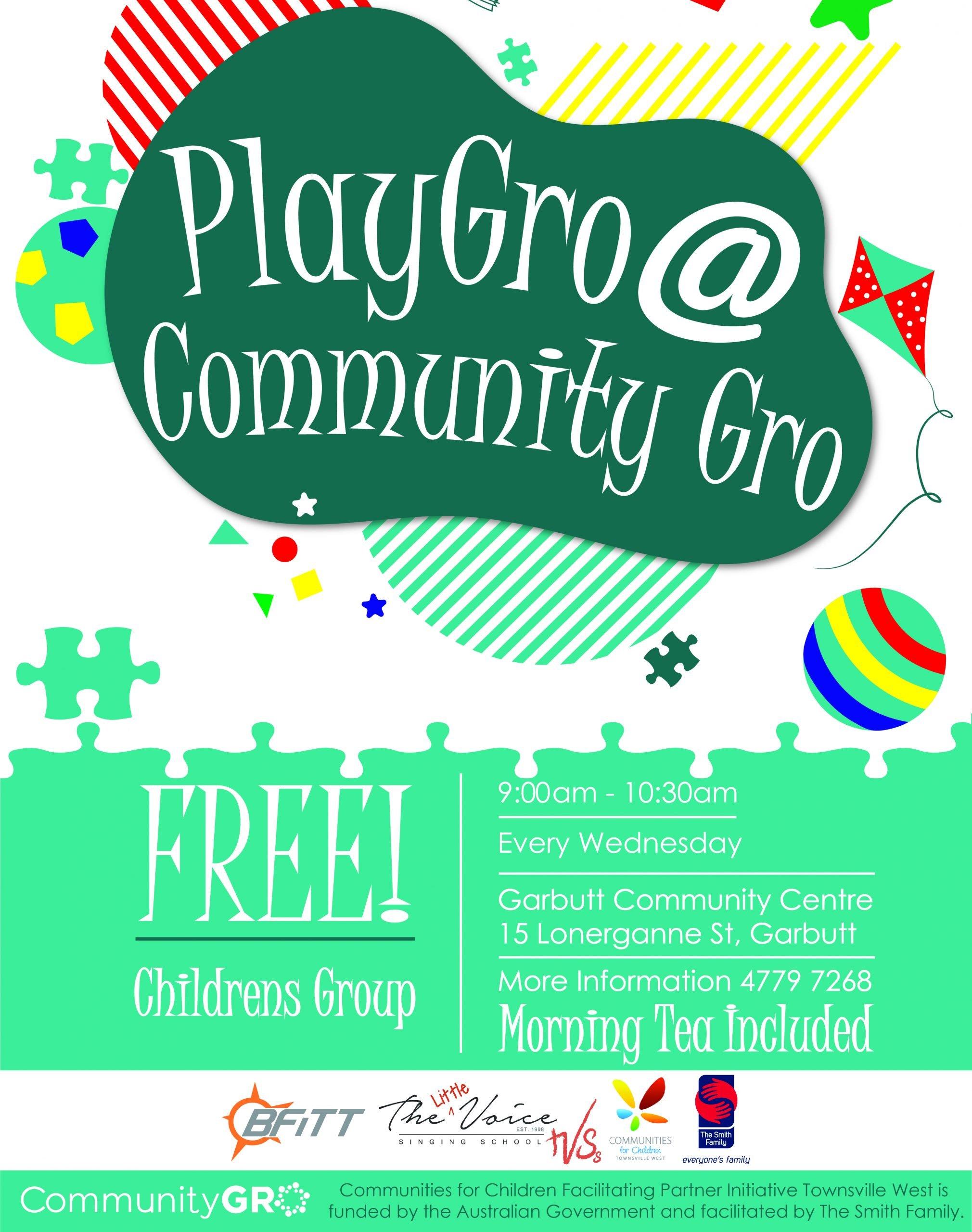Community Gro – PlayGro at Garbutt Community Centre
