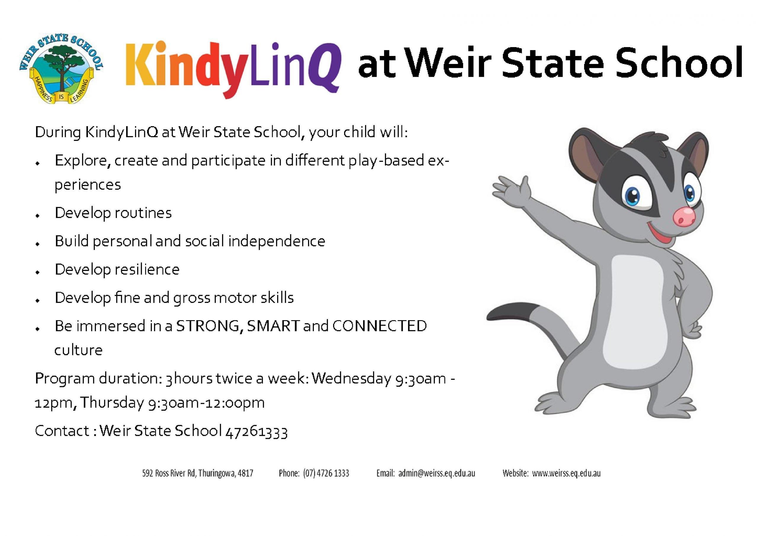 KindyLinQ Weir State School